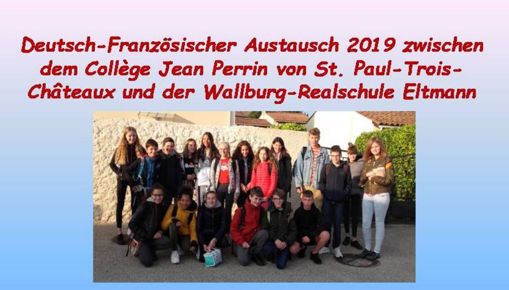 Deutsch-Französischer Austausch 2019
