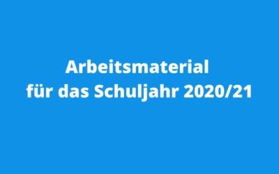 Arbeitsmaterial für das Schuljahr 2020/21